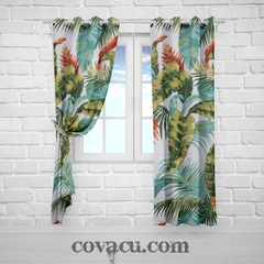 Vải canvas tropical lá cam