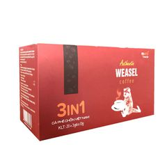 Authentic WeaSel Coffee - 3 in 1 - 23 gói