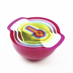Bộ 10 món Rainbow Bowl đa năng - Sweet Color Mixing Bowl 10pcs Set