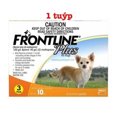Frontline Plus for dog up to 10kg / Tuýp nhỏ ve cho chó dưới 10kg (1 tuýp)