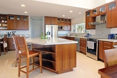 Kitchen cabinet laminated Teak color