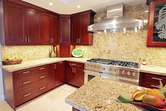 Kitchen Cabinet Asian mahogany wood