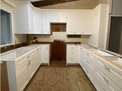 Kitchen cabinet White paint 10% seen