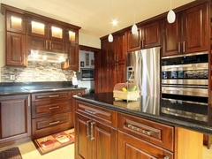 Kitchen cabinet birch Wood dark color