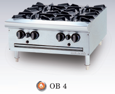 Bếp âu 4 họng Berjaya / Open Burner Table Top OB4