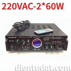 Bộ Amplifier Karaoke Bluetooth 220VAC 2*60W - DE339B