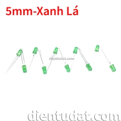 Combo 10 Led 5mm Xanh Lá - Led Màu
