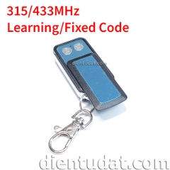 Remote Kim Loại 2 Nút 315/433MHz Learning/Fixed Code - WT037