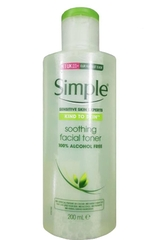 Nước Hoa Hồng Simple Kind To Skin Soothing Facial Toner - 200ml