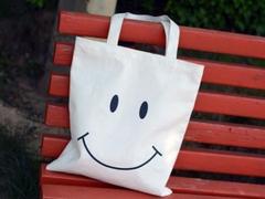 Túi Tote mặt cười T01