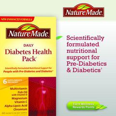 Nature Made® Diabetes Health Pack. Hộp 60 gói