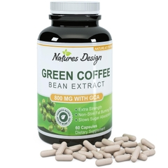 Pure Green Coffee Bean Extract. Lọ 60 viên