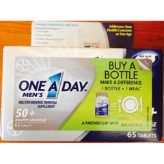 One A Day® Men's 50+ Healthy Advantage. Lọ 65 viên