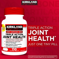 UC II Triple Action Joint Health Kirkland Signature. Lọ 110 viên nén