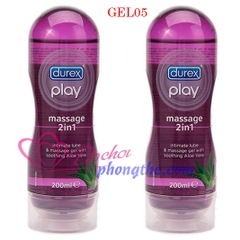 Gel bôi trơn Durex Play Massage 2in1 (Lọ 200ml)