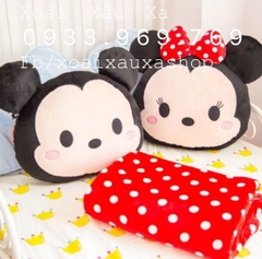 BỘ MỀN GỐI 2TRONG1 MCIKEY- MINNIE MOUSE