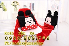 BỘ MỀN + GỐI 2 TRONG 1 MICKEY - MINNIE MOUSE