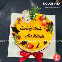 Christmas cake - Bánh giáng sinh Passion Fruit Mousse