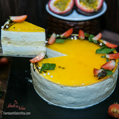 Passion Fruit Mousse  - Bánh Mousse Chanh dây