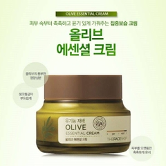 Kem Dưỡng Da Olive Essential Cream The Face Shop