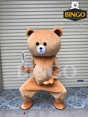 Mascot Gấu Brown 01