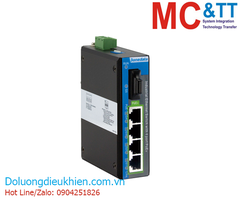 Switch công nghiệp 4 cổng PoE Gigabit Ethernet + 1 cổng quang Gigabit 3Onedata IPS2000G-1GF-4GPOE