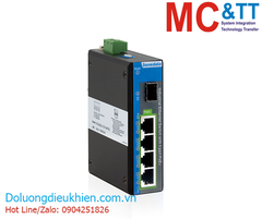 Switch công nghiệp 4 cổng PoE Gigabit Ethernet + 1 cổng quang Gigabit SFP 3Onedata IPS2000G-1GS-4GPOE