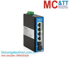 Switch công nghiệp 4 cổng PoE Ethernet + 1 cổng Quang (2 Sợi quang, Multi Mode, SC, 2KM) 3Onedata IPS215-1F-M-SC-2KM-4POE