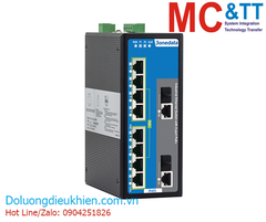 Switch công nghiệp 8 cổng PoE Ethernet + 2 cổng combo Gigabit SFP 3Onedata IPS3110-2GC-8POE