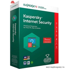 Phần mềm Kaspersky Internet Security 2017 Box, 1 year, 3 user
