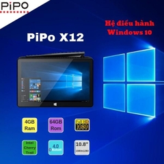 PIPO X12 Mini PC Windows 10, 4GB Ram/64GB Rom chip Intel Z8350, 10.8 Inch TV, 10000mAh rs-232 HDMI