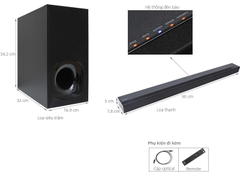 Loa Soundbar Sony 2.1 kênh HT-CT180