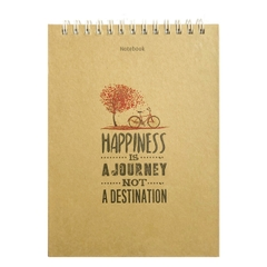 [ Sổ ] Notebook - Happiness Is A Journey Not A Destination (Gáy Lò Xo)
