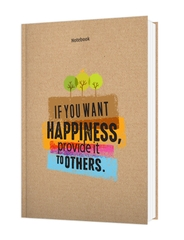 [ Sổ ] Notebook - If You Want Happiness Provide It To Others (Gáy Vuông)