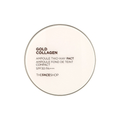 Phấn Gold Collagen Ampoule Two-way Pact The Face Shop