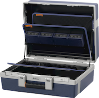Service tool case with base shell and tool boards 692955