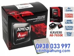 CPU AMD A8-SERIES A8-7650K (3.3GHZ, 4MB L2 CACHE, SOCKET FM2+)