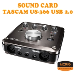 Sound Card thu âm TASCAM US-366 USB 2.0