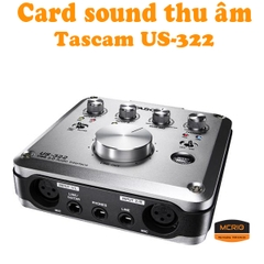 Card sound thu âm Tascam US-322
