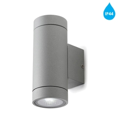 Đèn tường Leds C4 'Terry' IP44 4.5w LED Up & Down Outdoor Wall Light, Grey - 05-9719-34-37
