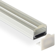 LED ALUMINUM PROFILE SURFACE MOUNTED 1m 2m 3m 	L*W19.76*H16.25mm