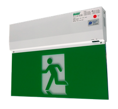 Đèn EXIT White LED Slim Emergency Exit Sign SLED W1201M Series