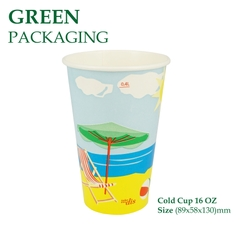 Ly Giấy Cold Cup 16 OZ