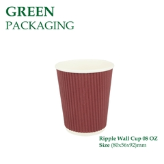 Ly Giấy Ripple Wall Cup 08 OZ