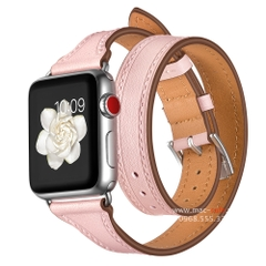 Dây da thật Double Tour cho Apple Watch