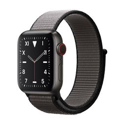 Apple Watch 5 44mm (GPS) Viền Titanium Đen - Dây Đen