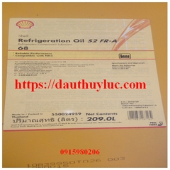 Shell Refrigeration Oil S2 FRA 68