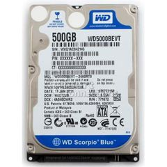 HDD Western Digital 500GB/5400 Sata For Laptop