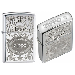 Zippo Gleaming Patina High Polish Chrome 5