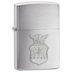Zippo US Air Force Crest Emblem Brushed Chrome